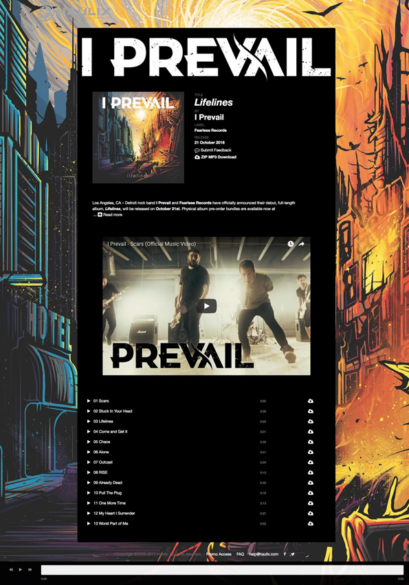 I Prevail - custom promo design